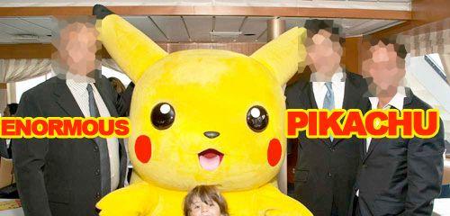 Enormous Pikachu logo